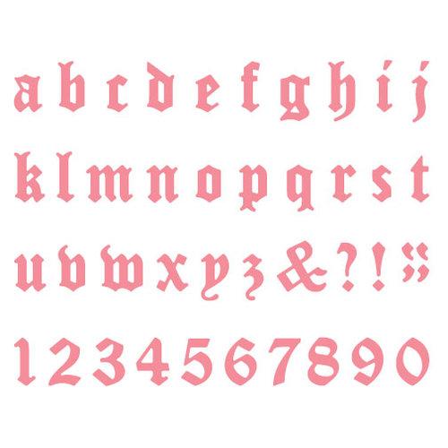 Lifestyle Crafts - Die Cutting Template - Mini Alphabet - Haunted