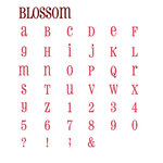 Quickutz - Grand Unicase Alphabet Die Cut Set With Case - Blossom