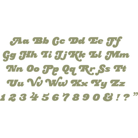 QuicKutz - Cookie Cutter Dies - Mini Complete Alphabet Set - Rockstar, CLEARANCE