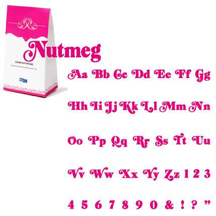 QuicKutz - Cookie Cutter Dies - Classic Complete Alphabet Set - Nutmeg, CLEARANCE