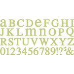 QuicKutz - All-on-One Mini Unicase Alphabet Die Set - Chocolate