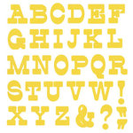 Lifestyle Crafts - Die Cutting Template - Mini Alphabet - Lemon Drop