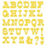 We R Memory Keepers - Die Cutting Template - Mini Alphabet - Lemon Drop