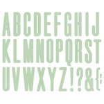 We R Memory Keepers - Die Cutting Template - Mini Alphabet - High Rise