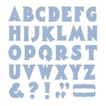 Lifestyle Crafts - Die Cutting Template - Mini Alphabet - Manhattan