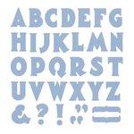 Lifestyle Crafts - Die Cutting Template - Mini Alphabet - Manhattan