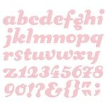 Lifestyle Crafts - QuicKutz - Die Cutting Template - Alphabet - Sugar Cookie