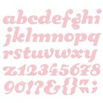 We R Memory Keepers - Die Cutting Template - Alphabet - Sugar Cookie