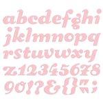 We R Memory Keepers - Die Cutting Template - Alphabet - Sugar Cookie