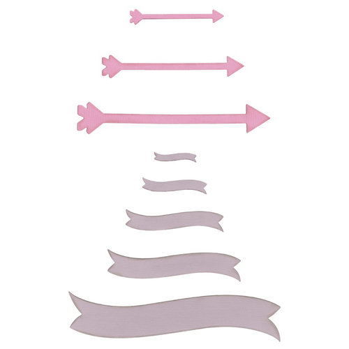 Lifestyle Crafts - Die Cutting Template - Banners and Arrows