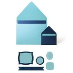 Lifestyle Crafts - Quickutz - Cookie Cutter Dies - Basic Envelope Set