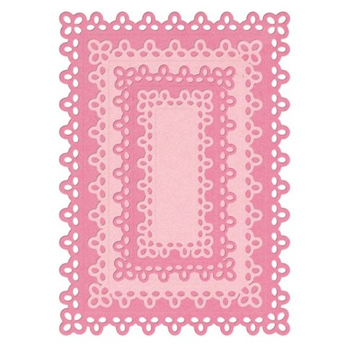 Lifestyle Crafts - Quickutz - Die Cutting Template - Nesting Doily Rectangles