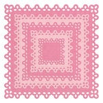 Lifestyle Crafts - Cookie Cutter Dies - Nesting Doily Squares