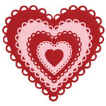 Lifestyle Crafts - Die Cutting Template - Nesting Lace Hearts