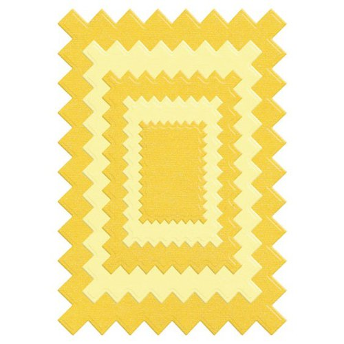 Lifestyle Crafts - Quickutz - Die Cutting Template - Nesting Pinking Rectangle