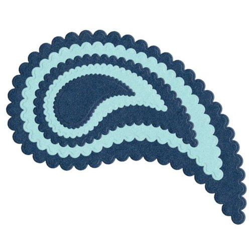 Lifestyle Crafts - Quickutz - Die Cutting Template - Nesting Scallop Paisley
