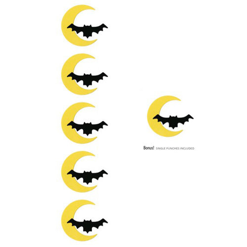 Lifestyle Crafts - Halloween - Die Cutting Template - Bat and Moon Punches