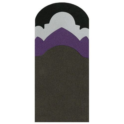 Lifestyle Crafts - Halloween - Die Cutting Template - Tombstone Edges