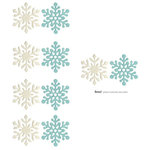 Lifestyle Crafts - Die Cutting Template - Snowflake Punches