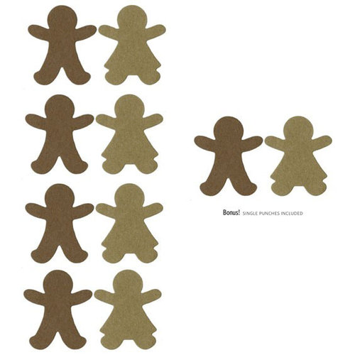 Lifestyle Crafts - Christmas - Die Cutting Template - Gingerbread Punches