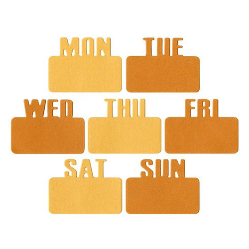 Lifestyle Crafts - QuicKutz - Die Cutting Template - Days of the Week Tab