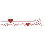 Lifestyle Crafts - Die Cutting Template - Heartbeat
