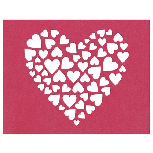 Lifestyle Crafts - Die Cutting Template - Heart Insert