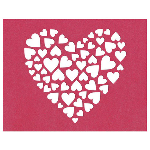 Lifestyle Crafts - Die Cutting Template - Heart Insert