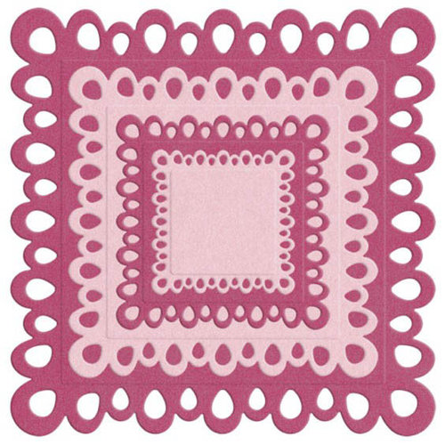 We R Memory Keepers - Die Cutting Template - Nesting Square Doilies