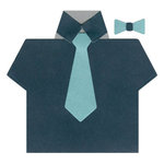Lifestyle Crafts - Die Cutting Template - Shirt and Tie Card