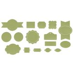 Lifestyle Crafts - QuicKutz - It Kits - Cookie Cutter Dies - Label