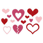 Lifestyle Crafts - Die Cutting Template - Hearts