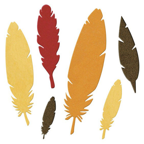 Lifestyle Crafts - Die Cutting Template - Feathers
