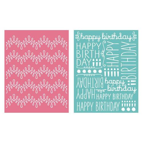 We R Memory Keepers - Embossing Folders - Happy Birthday