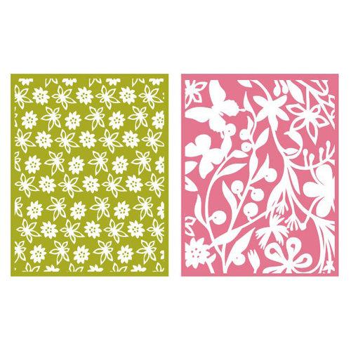 Lifestyle Crafts - QuicKutz - Embossing Folders - Floret