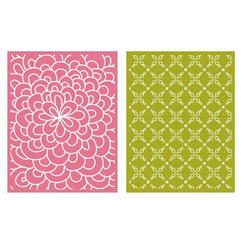 Lifestyle Crafts - QuicKutz - Embossing Folders - Bloom