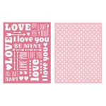 Lifestyle Crafts - QuicKutz - Embossing Folders - Sweetheart