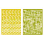 Lifestyle Crafts - QuicKutz - Embossing Folders - Woven