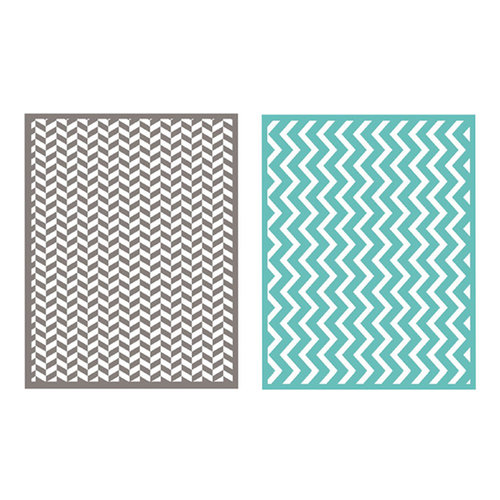Lifestyle Crafts - QuicKutz - Embossing Folders - Zig Zag