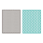 Lifestyle Crafts - QuicKutz - Embossing Folders - Zig Zag