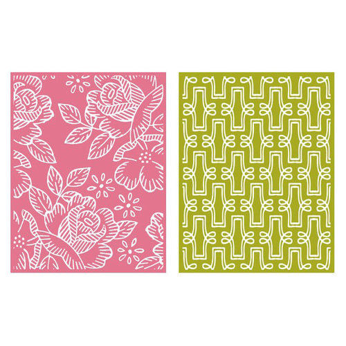 Lifestyle Crafts - QuicKutz - Embossing Folders - Tea Party