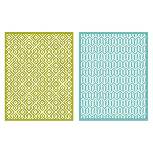 Lifestyle Crafts - QuicKutz - Embossing Folders - Sequence