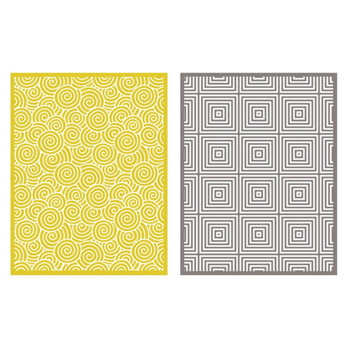 Lifestyle Crafts - QuicKutz - Embossing Folders - Twirl