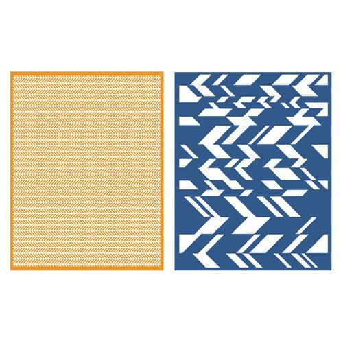 Lifestyle Crafts - GooseBumpz Embossing Folders - Chevron
