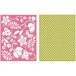 Lifestyle Crafts - GooseBumpz Embossing Folders - Wildflower