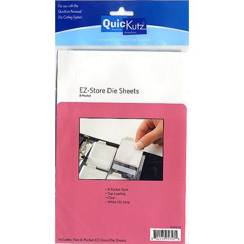 QuicKutz - EZ Store Die Sheets - 8 Pocket Design - Clear