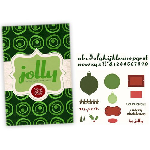 QuicKutz - Deck the Halls Collection - Christmas - 2008 Holiday Limited Edition Gift Set - Jolly - Die Gift Set, CLEARANCE