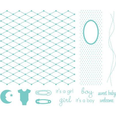 We R Memory Keepers - Letterpress - Printing Plate Set 1 - Baby