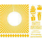 We R Memory Keepers - Letterpress - Printing Plate Set 1 - Celebrations
