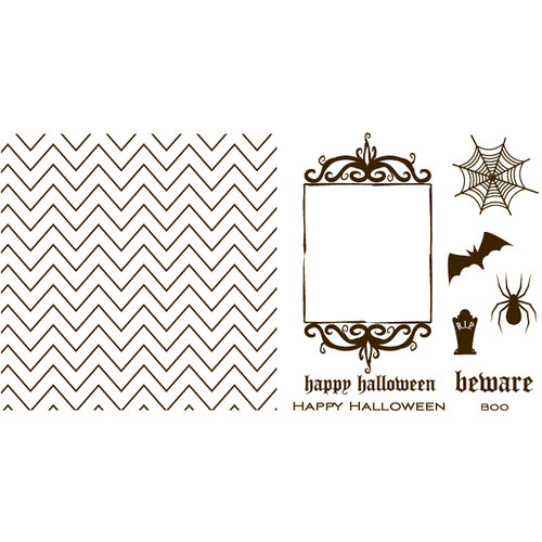 We R Memory Keepers - Letterpress - Halloween - Printing Plate Set 1 - Holiday